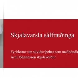 Hér er hægt að horfa á erindi Árna Jóhannssonar skjalavarðar á Þjóðskjalasafni Íslands.